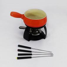 Aparelho de fondue com 04 espetos