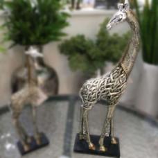 Girafa de resina bronze