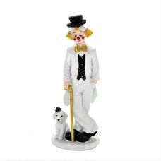 Escultura palhaço com cachorro