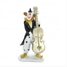 Escultura palhaço com violoncelo